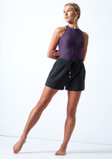 Short de danse en Jersey Move Dance Cassandra Fusain  Avant-1 [Fusain ]