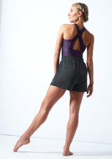 Short de danse en Jersey Move Dance Cassandra Fusain  Arrière-1 [Fusain ]