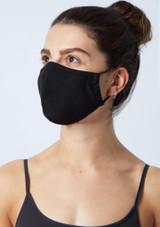 Masque de protection motif floral Move Dance - Lot de 2 Noir  Avant-2 [Noir ]