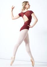 Justaucorps de danse dos croisé tressage Bloch Vidalia Borgogna  Arrière-1 [Borgogna ]