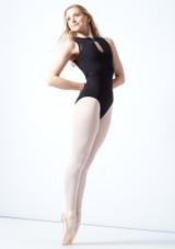 Justaucorps de danse dos maillé tressage Bloch Elmira Nero  Avant-1 [Nero ]