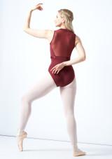 Justaucorps de danse dos maillé tressage Bloch Elmira Borgogna  Arrière-1 [Borgogna ]