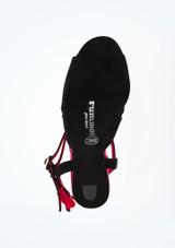 Chaussure de Danse Rummos Passion 7,5cm Noir* Rouge #3. [Noir-Rouge]