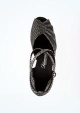 Chaussure de Danse Diamant Anja 6cm Noir #2. [Noir]