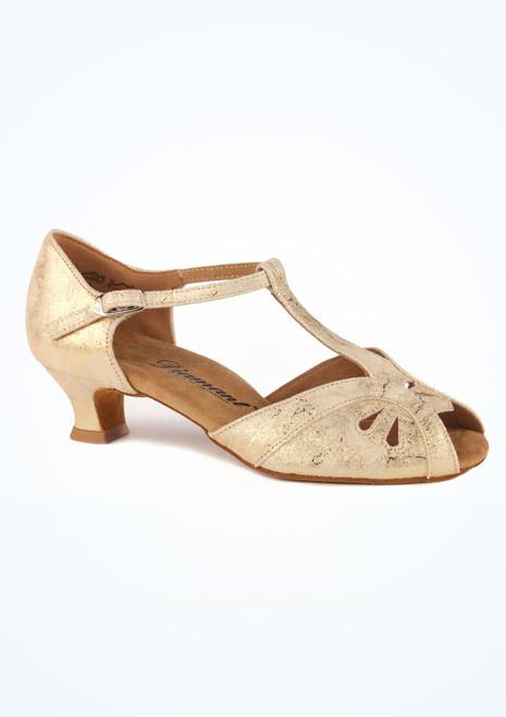 Chaussure de Danse Latine & Salon Diamant Ivonne 4cm Or. [Or]
