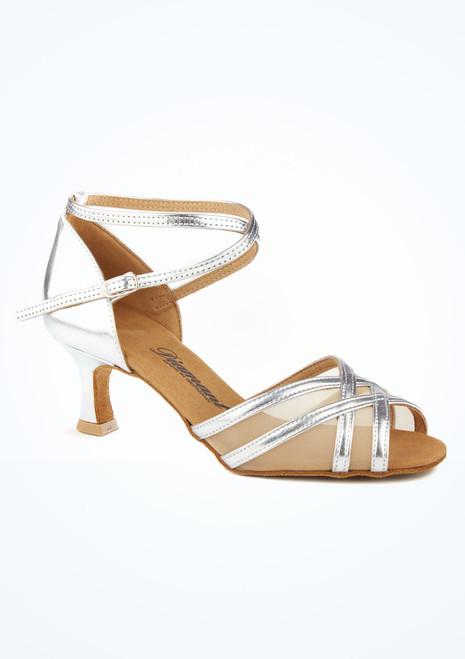 Chaussure de Danse Latine & Salsa Diamant Remi 5cm Argent. [Argent]