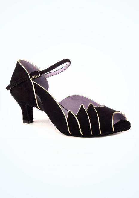 Chaussures de danse latine et salon Merlet Danube 5cm noir. [Noir]