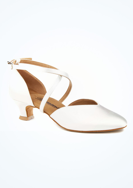 Chaussure de Danse Latine & Salon Diamant Geri 4,2cm Blanc. [Blanc]