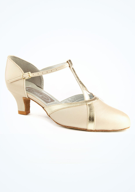 Chaussure de Danse Latine & Salon Freed Nancy 3,45cm Champagne Blanc. [Blanc]