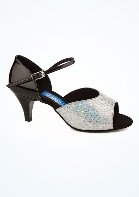 Chaussures danse de salon brillantes et holographiques Ray Rose Pegasus 5 cm Noir image principale. [Noir]