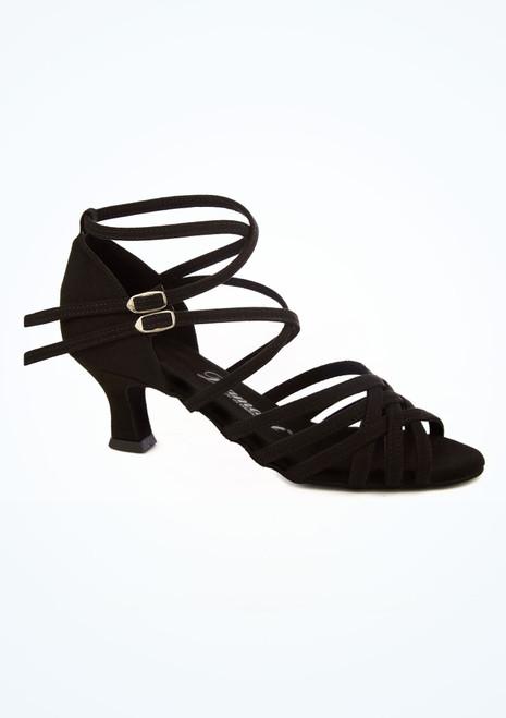 Chaussures danse de salon etroites Diamant 5 cm noir image principale. [Noir]