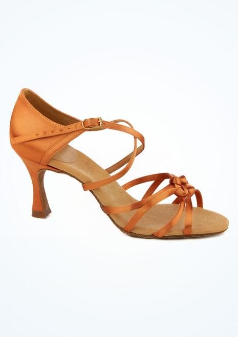 Chaussures danse de salon noeud a l'avant Ray Rose Blizzard 7.5 cm bronzage leger Fauve image principale. [Fauve]