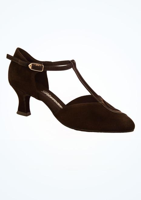 Chaussures danse de salon larges Diamant 5 cm Noir image principale. [Noir]