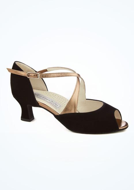 Chaussures danse de salon bout ouvert Werner Kern Gaby 5 cm Noir image principale. [Noir]