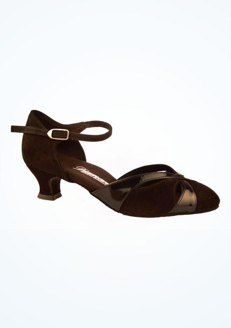 Chaussures danse de salon vernies larges Diamant 4,2 cm Noir image principale. [Noir]