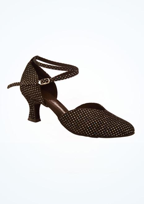 Chaussures danse de salon brillantes Diamant 5 cm Noir image principale. [Noir]