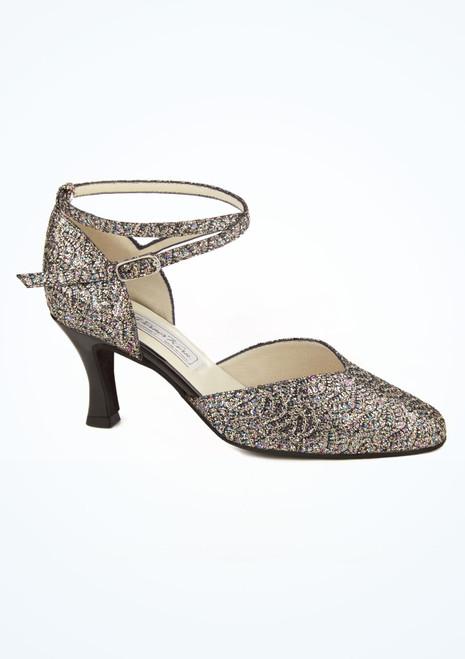 Chaussures danse de salon brocart Werner Kern Betty 6.5 cm Noir image principale. [Noir]