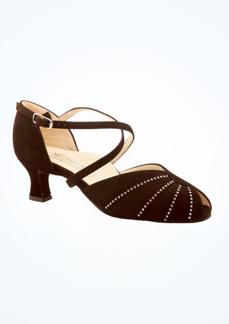 Chaussures danse de salon confort strass Werner Kern 4,5 cm Noir image principale. [Noir]