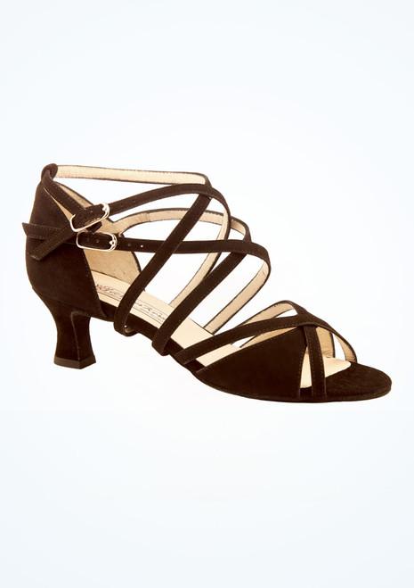 Chaussures de danse en daim Eva Werner Kern 5,6 cm Noir image principale. [Noir]