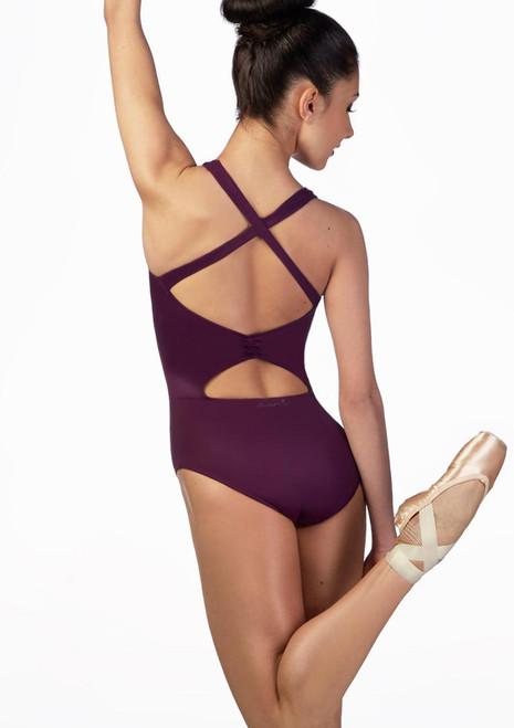 Justaucorps croise dans le dos Ballet Rosa Violet avant. [Violet]