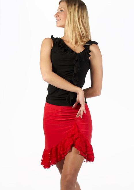 Jupe de Danse Latine Move Lilia Rouge. [Rouge]