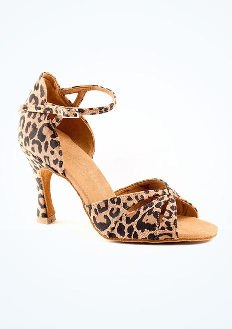 Chaussure de Danse  Salsa & Tango Rummos Leopard 7,5cm Multicolore. [Multicolore]