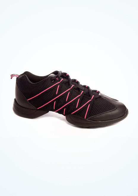 Baskets de Danse Bloch Criss Cross Rose Noir. [Noir-Rose]