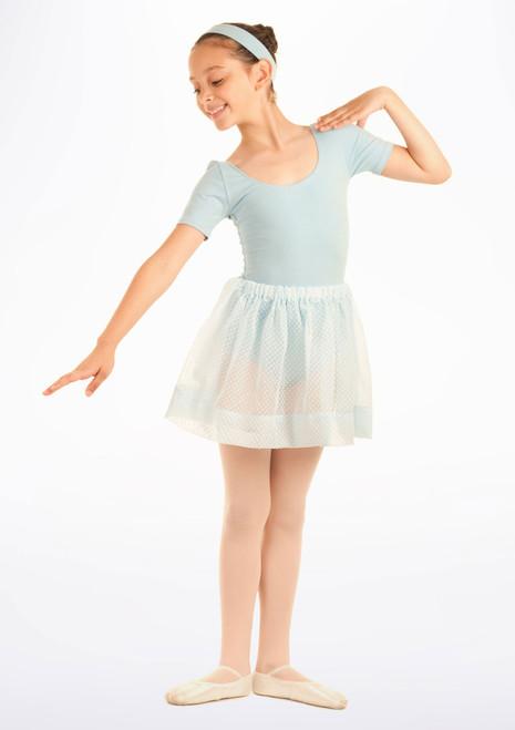 Jupe de danse voile a pois Tappers & Pointers Bleue. [Bleue]