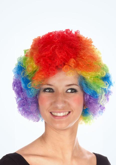 Perruque de clown arc en ciel Multicolore. [Multicolore]