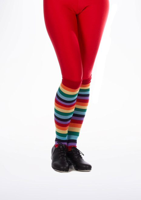 Chaussettes de Clown a Rayures Multicolore. [Multicolore]