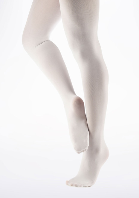 Collants Ballet Move Pieds Blanc. [Blanc]