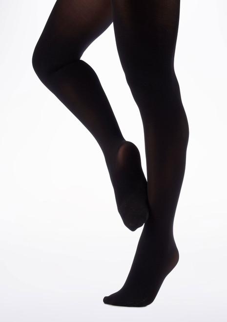 Collants de Danse Move Pieds Noir. [Noir]