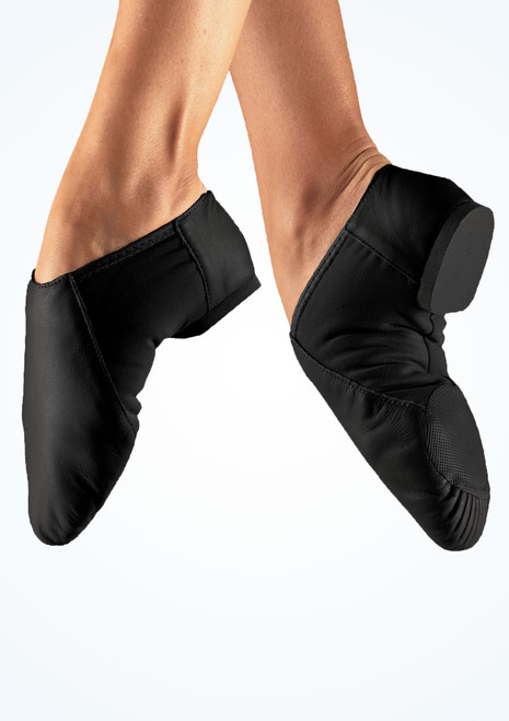 Chaussures de jazz stretch So Danca bi-semelle Noir. [Noir]