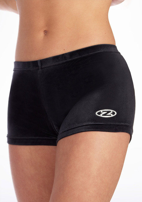 Short en Velours Taille Basse The Zone Noir. [Noir]