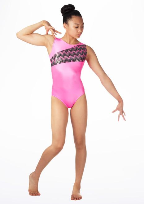 Justaucorps de gymnastique sans manches pour filles Alegra Cascade Rose. [Rose]