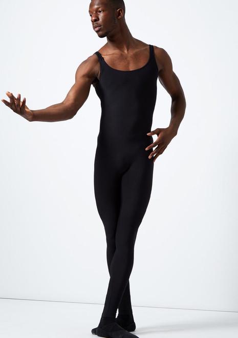 Combinaison unisexe stretch sans manches Grishko noir avant. [Noir]