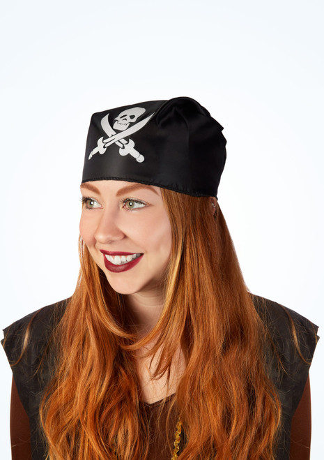Bandana pirate tete de mort Noir image principale. [Noir]