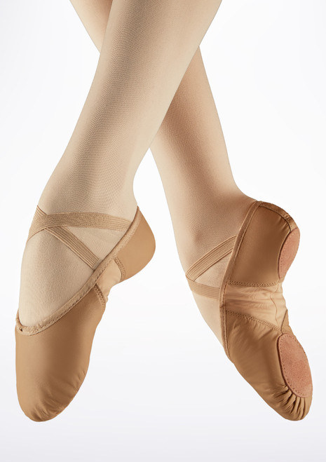 Demi-pointes en cuir bi-semelle So Danca Rose image principale. [Rose]