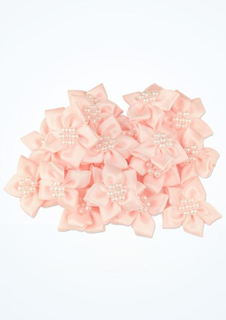 Fleurs a coudre avec perles 20 pieces Rose avant. [Rose]