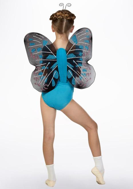 Ensemble ailes de papillon - bleu Bleue arriere. [Bleue]