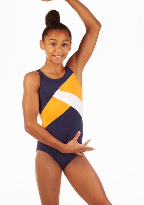 Justaucorps de gymnastique pour filles So Danca Salus Bleue avant. [Bleue]