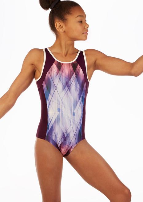 Justaucorps de gymnastique a motifs pour filles So Danca Nyx Vert avant. [Vert]