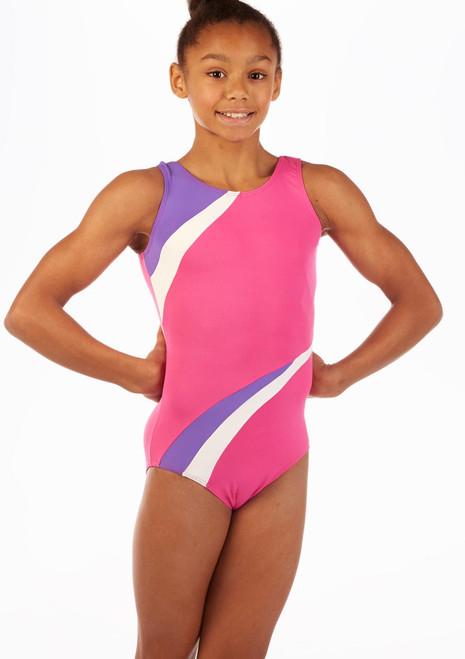 Justaucorps de gymnastique pour filles So Danca Themis Rose avant. [Rose]
