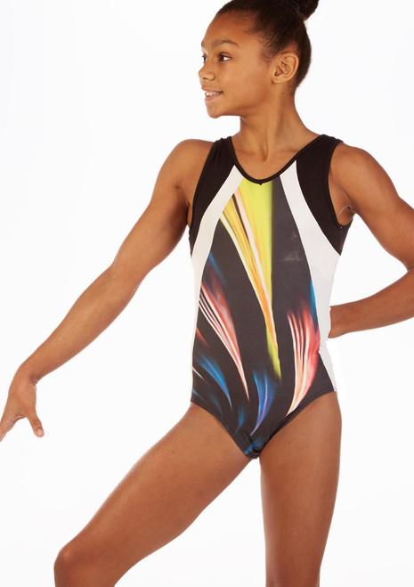 Justaucorps de gymnastique pour filles So Danca Phoebe Noir avant. [Noir]