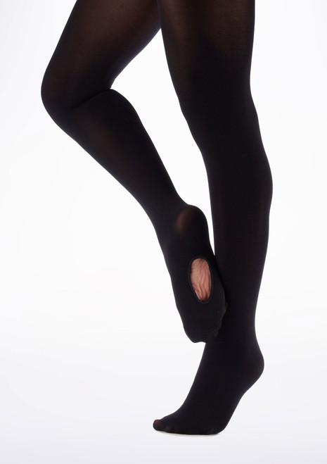 Collants Ballet Move Enfants orteil Convertible Noir image principale. [Noir]