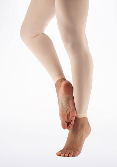 Collants de Danse Move Microfibre Sans Pied Rose image principale. [Rose]