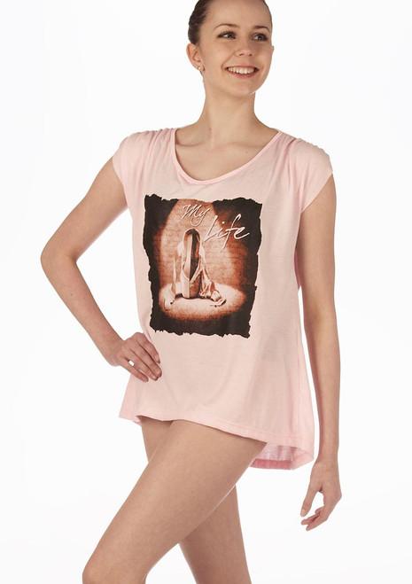 T-shirt So Danca 'My Lifeƒ Rose. [Rose]