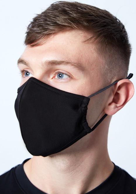 Masques de protection noirs pour hommes Move Dance - Lot de 2 FLO Avant-1T  [Noir]