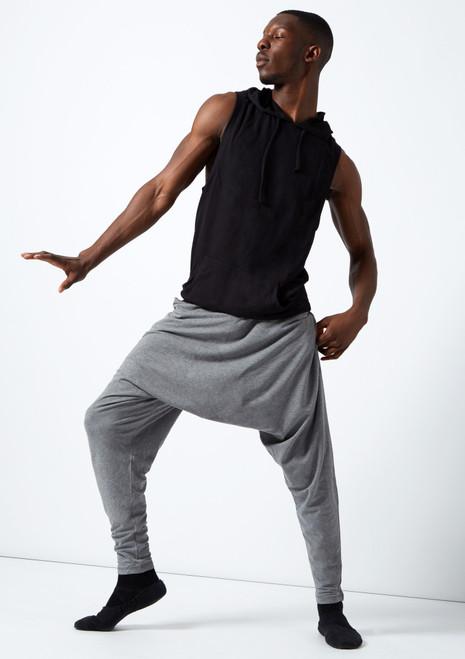 Pantalon de Danse Harem Unisexe Dincwear Gris. [Gris]