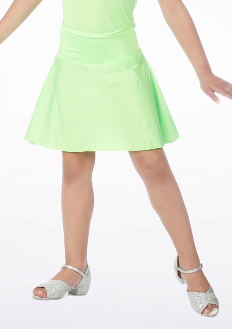 Jupe de danse brillantes cercle mi-longue Alegra Vert. [Vert]